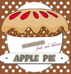 apple pie poster vector image