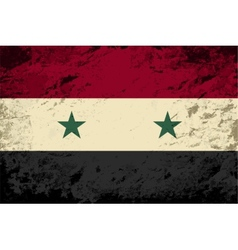 Syrian flag grunge background vector