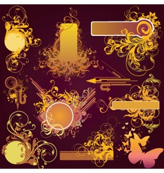 Graphic design elements vector