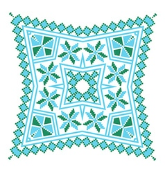 Ethnic ornament mandala geometric patterns in blue vector