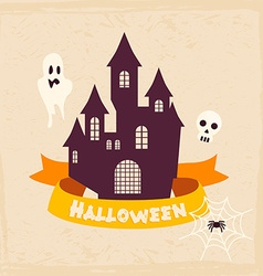 Halloween Badges and Labels in Vintage style vector image