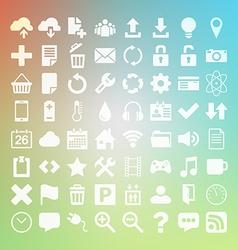 64 universal flat icon set for web desighers ui vector