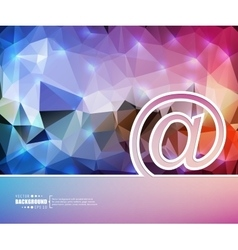 Creative e-mail art template vector