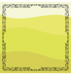 Grape vine frame vector