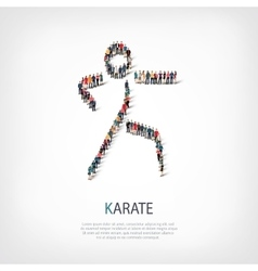 people karate vector image