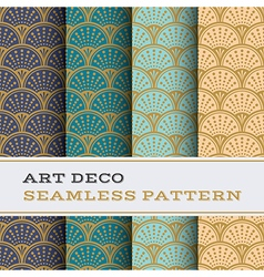Art deco seamless pattern 09 vector