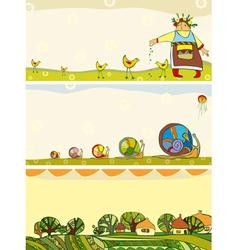 Banner Season Set Horizontal vector image