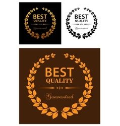Best Quality Guaranteed labels vector image