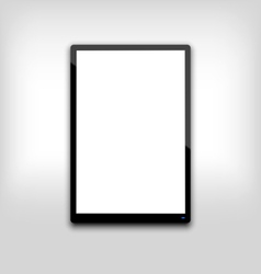 black tablet pc computer blank white screen with l vector image