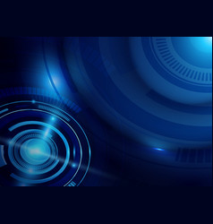 blue abstract technology digital hi tech concept vector image