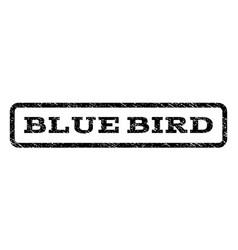 Blue bird watermark stamp vector