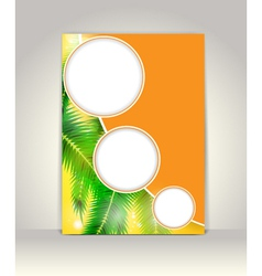 Business brochure template tropical background vector image