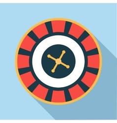 Casino roulette wheel icon flat style vector