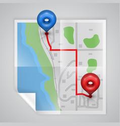 City paper map vector