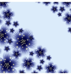 Decoration element Floral style vector image vector image