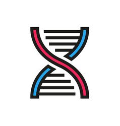 Dna icon on white background vector