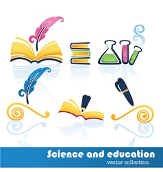 education and science symbols vector image vector image