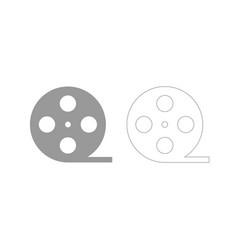 Film strip grey set icon vector