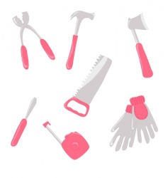 girlish tools vector image vector image