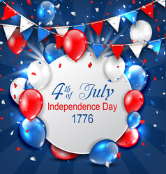 greeting card for american independence day 4th vector image vector image