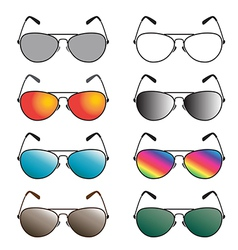 group of an sunglasses vector image vector image
