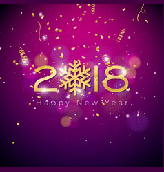 happy new year 2018 on shiny vector image vector image