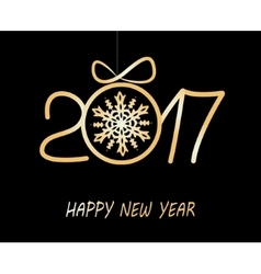 Happy new year greeting card 2017 vector
