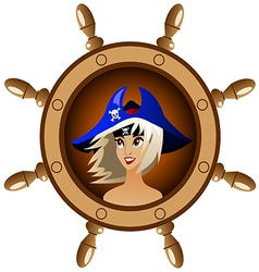 Icon pirate vector