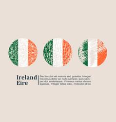 Ireland flag design concept vector