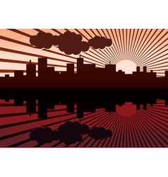 Morning City Landscape vector image