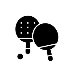 ping-pong icon black sign on vector image vector image