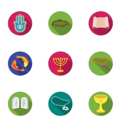 Religion set icons in flat style big collection vector