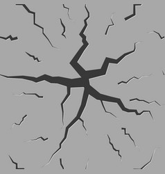 seamless background from cracks in the asphalt vector image