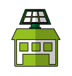 Solar energy alternative icon vector