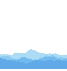 The silhouette mountains on white background vector