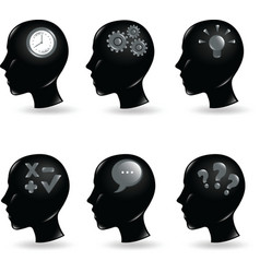 thinking icons vector image