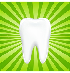 Tooth With Beams vector image