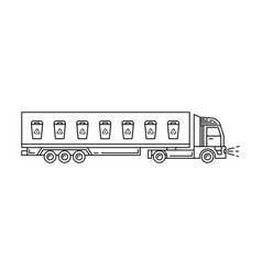 track icons recycling vector image