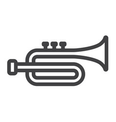 trumpet line icon music and instrument vector image