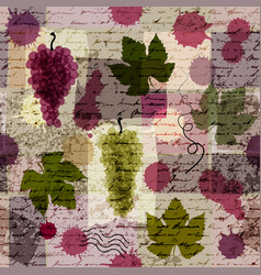 Vintage wine background vector
