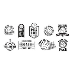 Volleyball logo set vector