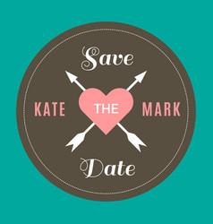 Wedding circle kate and mark image vector