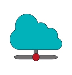 Cloud computing service icon vector