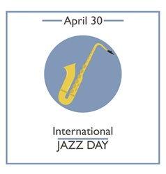 Jazz day vector