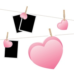 Heart with Film Frame on Rope2 vector image