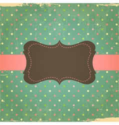 Retro grunge polka dot background vector