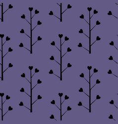 Decorative seamless background with floral vector