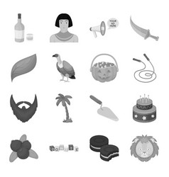 Egypt fitness animal and other web icon in vector