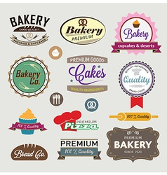 Bakery signs set vector