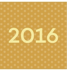 2016 Text on New Years background font vector image vector image
